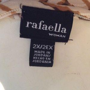 Rafaella Tops - Rafaella Gold Brown Cream Blouse Sz 2X